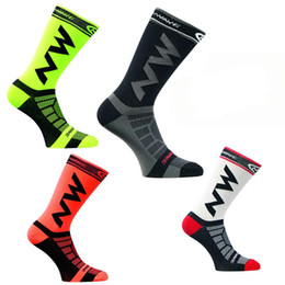 Wholesale Sports Footwear Brands - High Quality Men's Professional Brand Sport Socks Protect Feet Breathable Wicking Socks Long Racing Cycling Socks Bicycles Footwear
