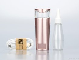 Wholesale Mini Facial Beauty Mist - 2016 New Strong Mist Maker Portable Rechargable Usb Nano Mister Air Humidifier For Facial Skin Beauty Care