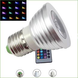 Canada 5W LED RGB Ampoule 16 Couleur Changeante LED Spots led Lampe E27 GU10 E14 MR16 GU5.3 avec Télécommande à clé Offre