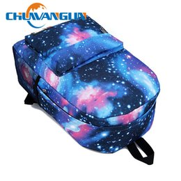 Wholesale Print Galaxy Backpack - Wholesale- Chuwanglin Women printing high quality casual backpack Galaxy Stars Universe Space School Book Campus student Backpack N333