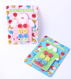 Wholesale Hand Eye Coordination - Children 's puzzle handmade toys wear slit buttons game hand - eye coordination fine action wooden toys wholesale