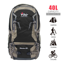 Wholesale Cover Sports Bags - Vihir Outdoor Multi-function Nylon Waterproof Hiking Professional Luxury Backpacks Fashion with Rain Cover 40L Sports Bags