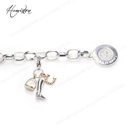 Wholesale Bracelet Charms Thomas - Thomas Style Base Link Charm Bracelet with Lucky Charms, Glam Jewelry Soul Gift for Women TS B274