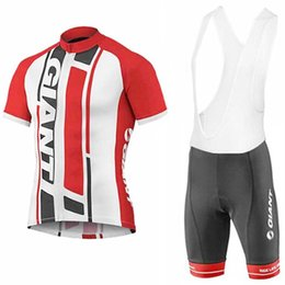 Wholesale Giant Bib Shorts Jersey - new 2017 GIANT cycling team jersey 3D gel pad bibs shorts Ropa Ciclismo quick dry pro cycling wear mens summer bike Maillot Suit