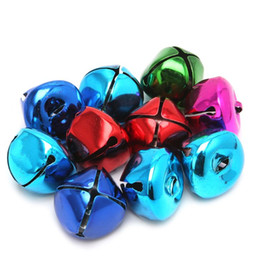 Wholesale Christmas Bell Crafts - Wholesale- 10 100Pcs Colorful Small Jingle Tinkle Bell Christmas Party Decoration DIY Crafts Ornament