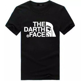 Wholesale Face T Shirt - Tide brand the face Darth t-shirt t-shirt men's foreign trade source printing short sleeved sports casual shirt