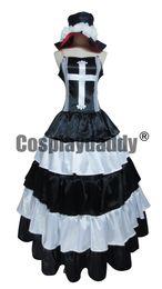 Wholesale Anime Princess Cosplay - One Piece Ghost Princess Perona Black White Long Dress Cosplay Costume
