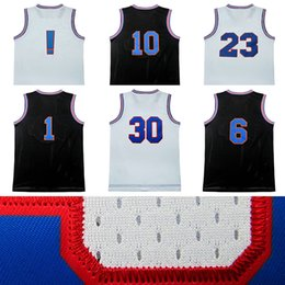 Wholesale Dryer Air - Men tune squad jersey 6# #1 #2 #10 #30 !# 22# 23# jordan james curry air dunk movie throwback basketball jerseys 100% stitched