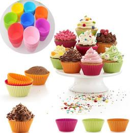 Yuvarlak şekil Silikon Muffin Cupcake Kalıp Bakeware Maker Kalıp Tepsi Pişirme Kupası Astar Pişirme Kalıpları B0105 nereden
