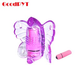 Wholesale Adult Male Masturbates - Wholesale- Wearable Clitoris Vibrator Sex Toys For Woman Butterfly Massager Clitoral Stimulator Female Masturbate Adult Erotic Products