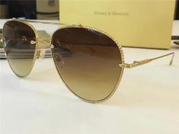 Wholesale Diamond Cut Ring Men - New men's sunglasses Frency & Mercury Coast Drop l Pilot sunglasses, diamond cutting ring line top quality UV sunglasses with the original b