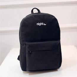 Wholesale kpop bags - Wholesale- 2017 Men Male Canvas backpacks kpop rucksack for girls College Student School Backpack Bags for Teenagers bagpackTravel Daypack
