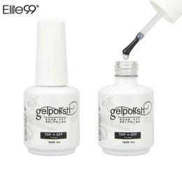 Wholesale Top Coat Clear Nail - Wholesale-Elite99 Gelpolish 15ML Wiping Top Coat UV LED Gel Polish Sealer Nail Art Salon Shiny Professional Clear Nail Polish