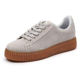 Wholesale Rihanna Shoes - 2016 NEW BASKET CREEPERS GLO RIHANNA SNEAKERS CASUAL WOMEN 'S SPORTS RUNNING JOGGING SHOES WOMENS FASHION CLASSIC SHOES 36-44