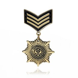 Wholesale Medals Brooch - Retro British Shield Octagonal Star Brooch Medal Personalized Dresses Men & Women Universal Brooches