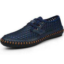 Wholesale Mens Leather Laced Sandals - Wholesale-2016 Genuine Leather Summer Men's Sandals casual Breathable Handmade men shoes fashion mens sandales chaussure homme sandalias