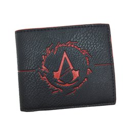 Wholesale Game Coins - Wholesale- Free Shipping High Quality Wallets Cool Game Assassins Creed Men Wallet With Coin Pocket for Young