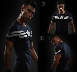 Wholesale Iron Man Clothes - Free Shipping Wholesale US Captain 3D Print T-Shirt Men's Avenger Iron Man Civil War Tricycles Cotton Fitness Clothing Cross Top blue S-4XL