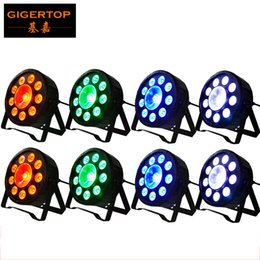 Wholesale Active Years - Freeshipping 8XLOT Chrismas New Year Party Decoration Stage Flat Led Par Light 9*3W + 1*30W RGB 3IN1 Digital Par Cans DMX 6CH New Design