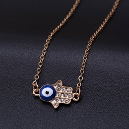 Wholesale Gypsy Rose Wholesale - Bohemian Good Luck Cluster Evil Eye Hamsa Hand of Fatima and Coins Tassel Statement Necklace Turkish Gypsy Ethnic Tribal Jewelry
