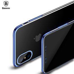Wholesale Baseus Iphone Case - Baseus Luxury Plating Case For iPhone X 10 Capinhas Ultra Thin Electroplating Hard PC Back Cover Case For iPhone X Shell Coque