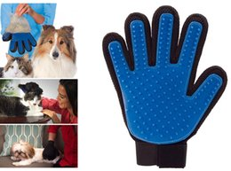 deshedding dog brush tool Canada - New Pet Cleaning Brush Gloves Cat Dog Massage Comb Hair Removal Cleanup Grooming Mitts Groomer Bath Gentle Efficient Deshedding Glove Tool