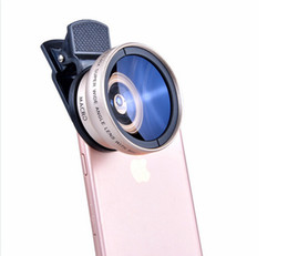 Wholesale New Super Lens - New HD 37MM 0.45x Super Wide Angle Lens with 12.5x Super Macro Lens for iPhone Samsung Camera lens Kit