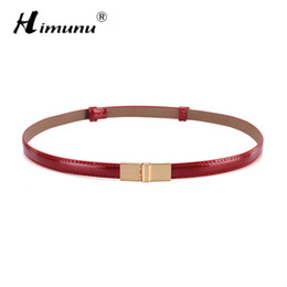 Wholesale Brown Belt Snap - Wholesale- HIMUNU 2016 Fashion Cowhide Leather Belts For Women Brand Luxury Designer Women Belt Style Snap Skinny Popular Belts Women Color