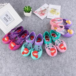 Wholesale Summer Breathable Jelly Shoes - Melissa Jelly Shoes Mermaid Girls Princess Sandals Anti-Skid Sapato Melissa Sandals Kids Cartoon Breathable Summer Shoes 10 Styles OOA2586