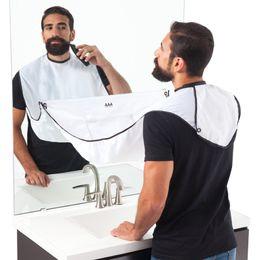 Wholesale Men Aprons - Man Bathroom Beard Care Trimmer Hair Shave Apron Bib Gown Robe Sink Styles Tool Black White New