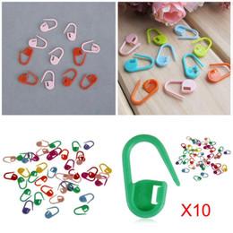 Wholesale Locking Stitch Markers Clips - 10pcs Set Plastic Markers Holder Needle Clip Craft Mix Mini Knitting Crochet Locking Stitch Holders Knitting