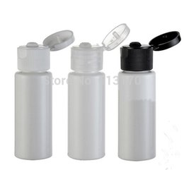Wholesale Empty Plastic Bottles For Shampoo - Free Shipping 20ML flip lid bottles white plastic vials for lotion shampoo small empty cosmetic containers, 50pcs lot