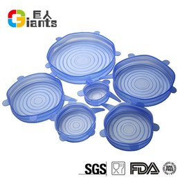 Wholesale Fresh Lids - 6Pcs Silica Gel Silicone Lids Anti Overflow Leakproof Vacuum Cover Seal Fresh Lid Cooking Pan Spill Lids Bowl Stopper Covers 16pj R