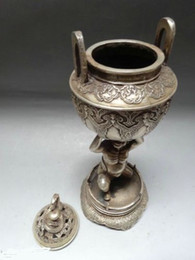 "Wholesale China Lift - 10""China Silver Bronze incense burner Rohan Lift incense burner dragon lid"