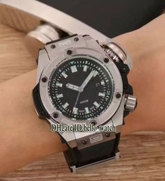 Wholesale New Steel V6 - V6 Super Clone Brand Luxury Cheap 47mm Black Dial King Power Oceanographic 731.NX.1190 Limited Deep Sea 4000M Automatic Mens Watch Rubber