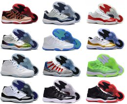 Wholesale Chocolate Footwear - Free Shipping New Model High Quality Airs Retro 11 XI Space Jams Legend Blue Men's Basketball Sport Footwear Sneaker Trainers Shoes