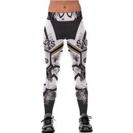 billige schlankheits-leggings Rabatt Billig Wholesale Sport Leggings für Frauen Hohe Taille 3D Print Plaid Fitness Schlank Gestrickt Punk Style Fashion Lange Yoga Hosen Herbst Aktiv