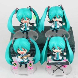 "Wholesale Vocaloid Hatsune Miku Action Figure - Hot Action 10cm Anime Cute Nendoroid Vocaloid Hatsune Miku Figure PVC 4"" Collection Hobby Model Doll Best Gift Miku Cosplay Toy"