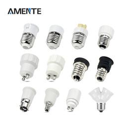 Wholesale E14 G9 Adapter - Wholesale- 1PCS E27 E14 GU10 G9 E12 B22 LED light Holders Converter AC 110V-220V Socket Adapter lampholders For LED Corn lamp RGB Spot Bu
