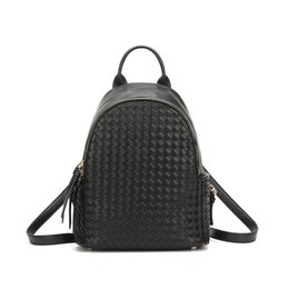 Wholesale Weaving China - 2017 new Korean fashion hand woven personality all-match simple student Shoulder Bag Backpack China manufacturing sale