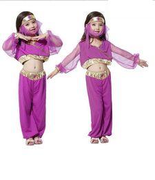 Wholesale India Clothing Costumes - 2017 Halloween Cosplay Girl Dress Arab India Princess Costume Children Greek Goddess Clothing Fairy Performance Costume