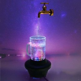 Wholesale Magical Mugs - Electric Magical Suspending Water Lights Glow Creative Bar Ornaments Beer Mug LED Faucet Furnishings Fortune Ornaments Gifts Decorations