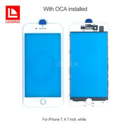 Wholesale Iphone Cold - Front Touch Screen Panel Outer Glass Lens with Cold Press Middle Frame with OCA installed for iPhone 7 iPhone 7 plus Free Shipping