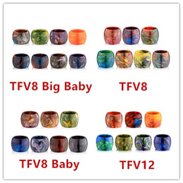 Wholesale Big Resin - Replacement Tube TFV8 Epoxy Resin Expansion Tank Capacity 7ml E Cigarette Tubes For Smok TFV8 Baby TFV8 Big Baby TFV12 Atomizers Top Quality