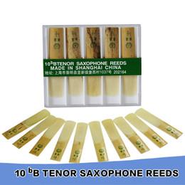 Wholesale Tenor Sax Accessories - Wholesale- Sax Saxfone Accessories XINZHONG 2 1 2 10bB Tenor Saxophone Reeds Set 10pcs box