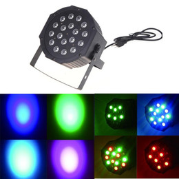 dj controllers Coupons - DHL ship Big Led stage light 18x3W 54W 85-265V High Power RGB Par Lighting With DMX 512 Master Slave Led Flat DJ Auto-Controller