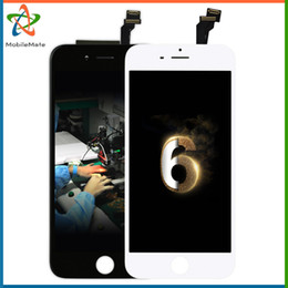 Wholesale Iphone Full Front Lcd - Wholesale Touch Screen For iPhone 6G 4.7inch Full Color LCD Display Free Shipping Front Glass Assembly Replacement