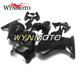 Wholesale Kawasaki Decals Black - Gloss Black White Decals Fairings For Kawasaki Ninja 250 EX250R 2008-2012 Injection ABS Motorcycle Fairing Kit Cowlings Bodywork Hulls