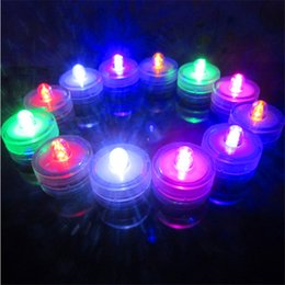 Wholesale Wholesale Fish Tank Decorations - LED Submersible Waterproof white Tea Lights led Decoration Candle Wedding Party High Quality Indoor Lighting for fish tank,pond 12pcs set