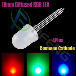 diodo ánodo cátodo Rebajas MIX Through Hole 10mm RGB LED Diode Common Anode / catthode Disponible